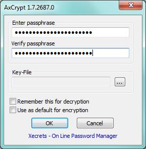 AxCrypt - zaheslování souboru