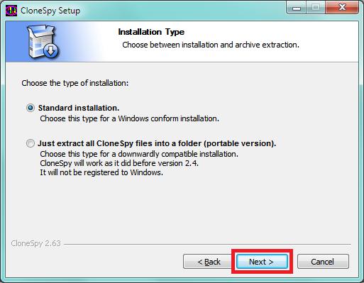 CloneSpy - instalace