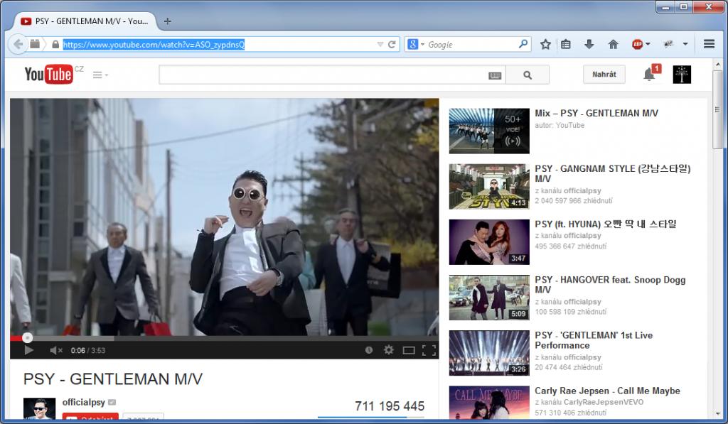 Free YouTube to MP3 Converter – výběr videa